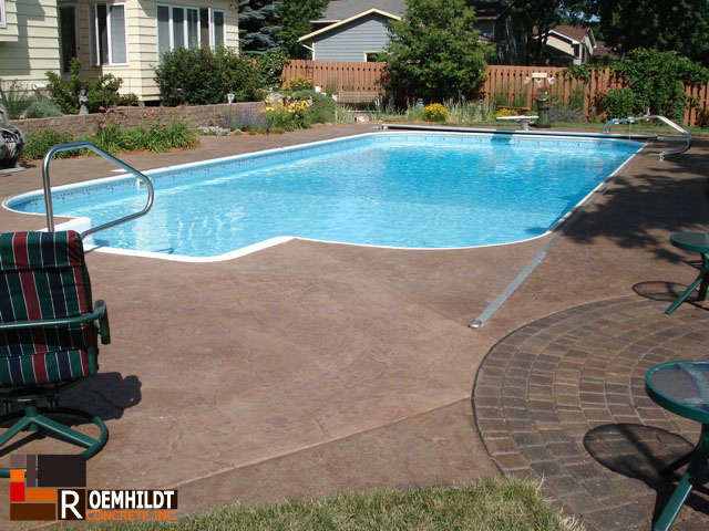 Stamped Colored Pool Deck